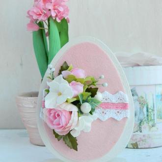 Пасхальный декор розовый