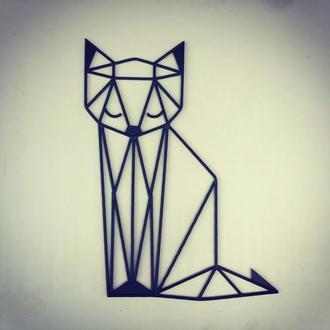 Настенный декор панно картина Кошка лофт из металла ручной работы