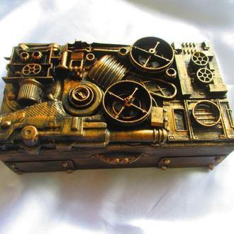 Шкатулки-купюрницы в стиле стимпанк (Steampunk),стильный подарок мужу,парню