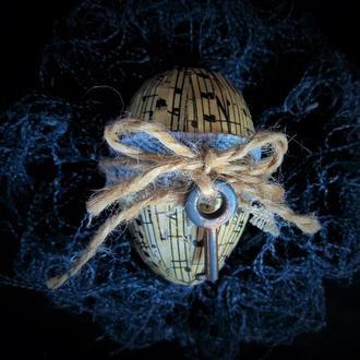 Декоративное яйцо в стиле рустик - пасхальный подарок