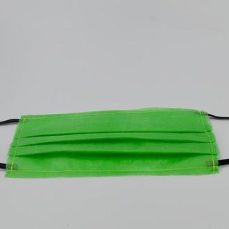 Маска для лица 1шт. качество одноразовая 3-х слойная из материала спанбонд цвет - зелёный