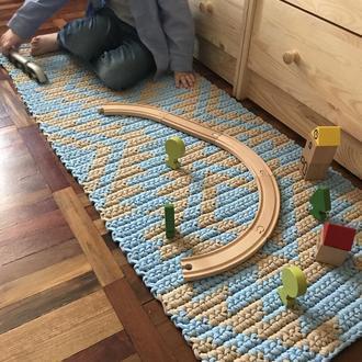 Вязаный коврик, вязаный ковёр прикроватный коврик