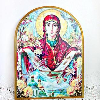 """Панно икона  """"Покров Пресвятой Богородицы"""""""