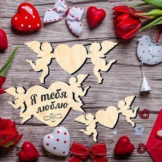 Валентинки с амурами для романтиков
