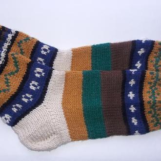 Шерстяные носки. Вязаные носки.