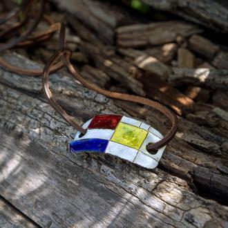 Браслет-кулон на кожаном шнуре
