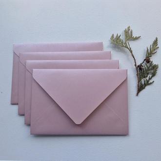 Пудровый перламутровый конверт
