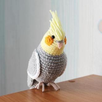 Папуга Корелла/Попугай Корелла/Игрушка попугай/Подарок попугай ребенку