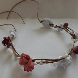 Веночек (ободок) с цветами