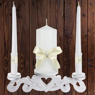 """Набор садебных свечей """"Семейный очаг"""", бежевый цвет, арт. CAND-12"""