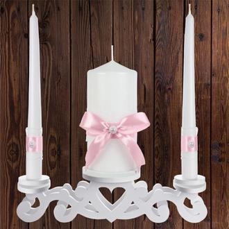 """Набор садебных свечей """"Семейный очаг"""", светло-розовый цвет, арт. CAND-14"""