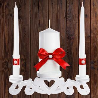 """Набор садебных свечей """"Семейный очаг"""", красный цвет, арт. CAND-16"""