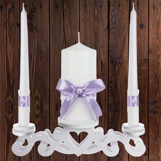 """Набор садебных свечей """"Семейный очаг"""", лиловый цвет, арт. CAND-19"""