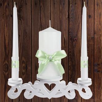 """Набор садебных свечей """"Семейный очаг"""", мятный цвет, арт. CAND-20"""