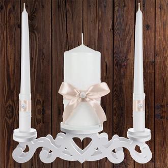 """Набор садебных свечей """"Семейный очаг"""", персиковый цвет, арт. CAND-28"""
