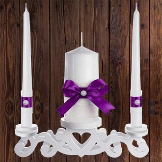 """Набор садебных свечей """"Семейный очаг"""", фиолетовый цвет, арт. CAND-29"""