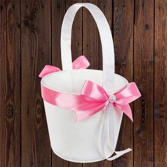 Корзинка для лепестков с розовым бантом, арт. 0797-15