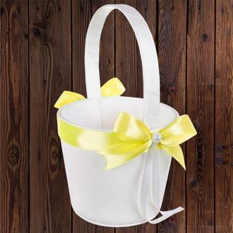 Корзинка для лепестков с желтым бантом, арт. 0797-22