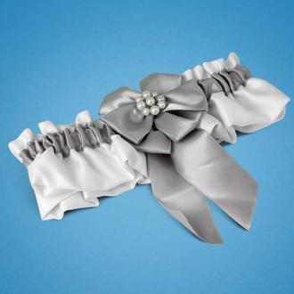 Підв'язка, сріблястий колір, арт. 0711-3