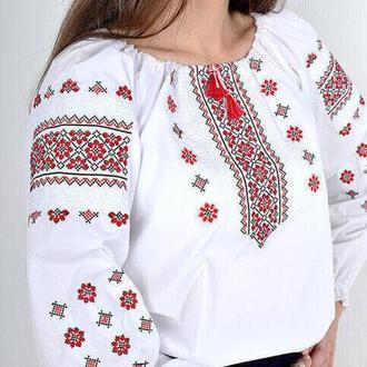 классическая вышиванка из рубашечной ткани