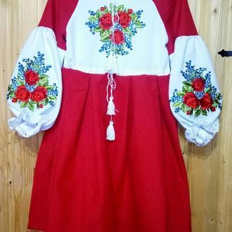Подростковая платье-вышиванка