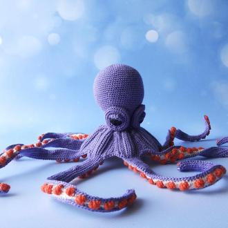 Интерьерная игрушка сиреневый осьминог