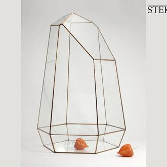 Флорариум №15 giga Crystal monolith copper