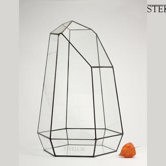 Флорариум №15 mega Crystal monolith black