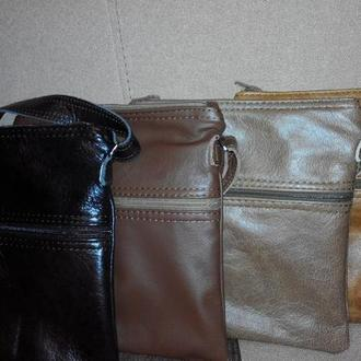 Кожаная мужская сумка планшет