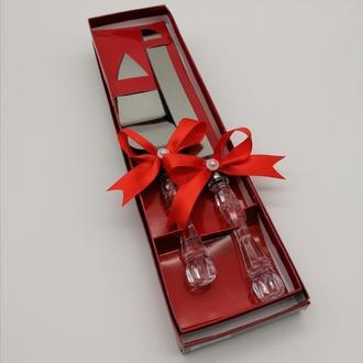 Приборы для свадебного торта, красный цвет, арт. DC-0168-16