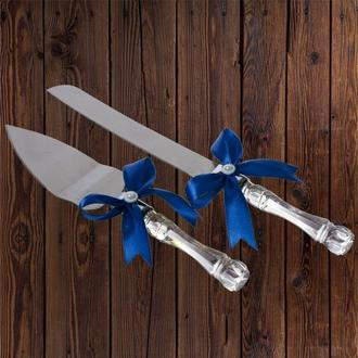 Приборы для свадебного торта, синий цвет, арт. DC-0168-21