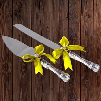Приборы для свадебного торта, желтый цвет, арт. DC-0168-22