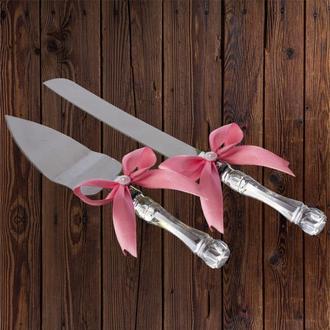 Приборы для свадебного торта, пудровый цвет, арт. DC-0168-25