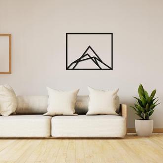 Геометрическая настенная абстракция  из дерева «Гора»