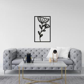 Тематическое деревянное панно на стену «Цветок»