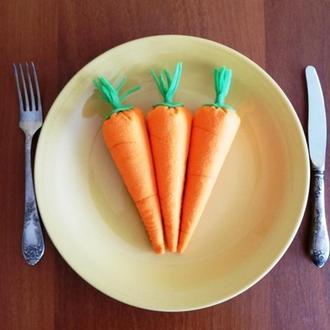 Игрушки фетровые. Набор морковок 3шт