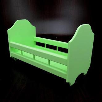 Кровать для кукол Рапунцель мохито