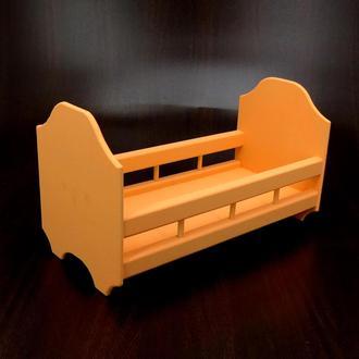 Кровать для кукол Рапунцель грейпфрут