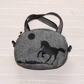 """Твидовая сумка """"Черная лошадь"""""""