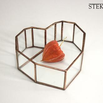 Флорариум №30 micro Heart copper
