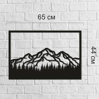 Тематическая настенная абстракция из дерева «Горы»