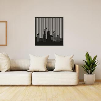 Оригинальная интерьерная картина из дерева «Нью-Йорк»