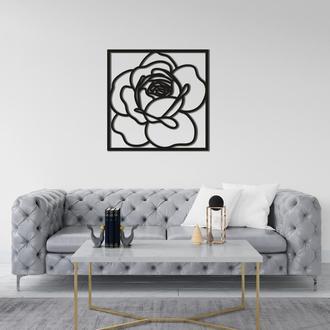 Дизайнерская настенная абстракция из дерева «Роза»