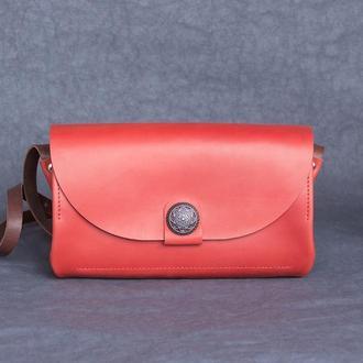 Кожаная сумочка Monica_carmin