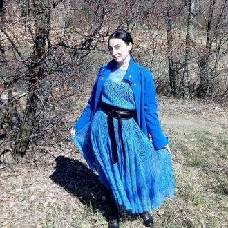 Платье из кид мохера вязаное
