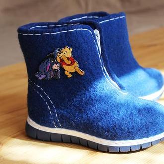 """Детские войлочные ботинки """"Винни Пух"""""""
