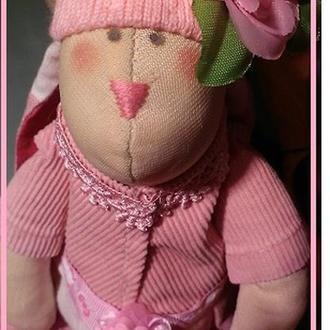 Розовая Тильда-зая