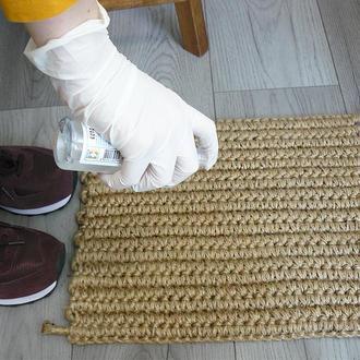 Коврик из джута 41х32 для дезинфекции подошвы, Коврик из джута в прихожую
