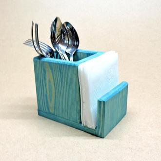 Подставка для столовых приборов Пранзо лазурь