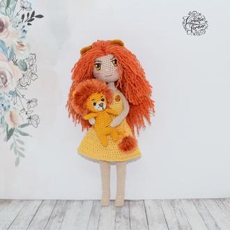Куколка Лев, знак зодиака, коллекционная кукла